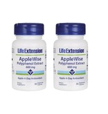 Life Extension Applewise Polyphenol Extract, 600 Mg 30 Vegetarian Capsules, 2-pack