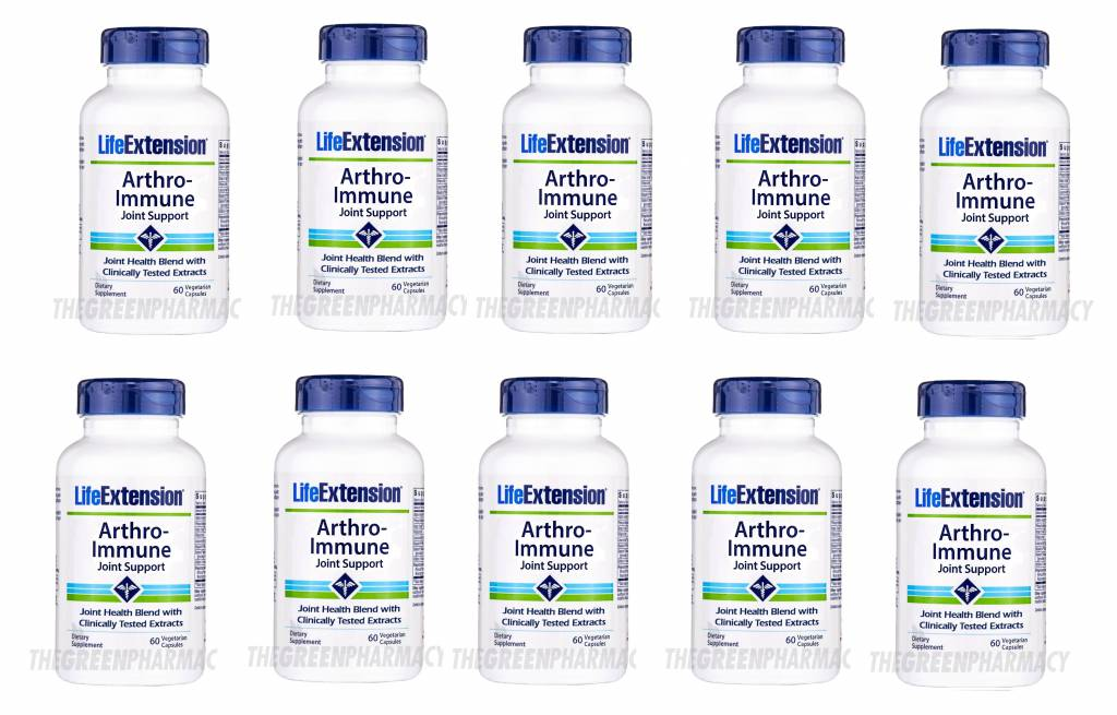 Life Extension Arthro-immune Joint Support, 60 Vegetarian Capsules, 10-pack