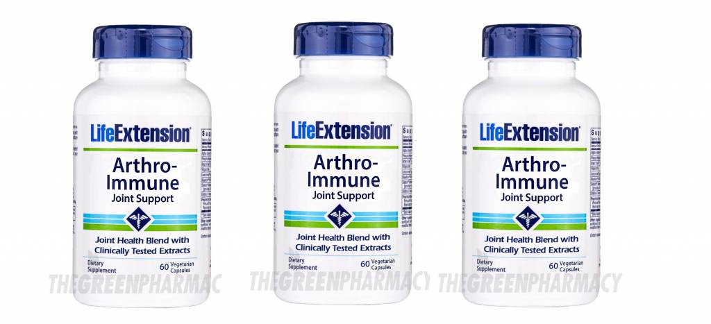 Life Extension Arthro-immune Joint Support, 60 Vegetarian Capsules, 3-pack