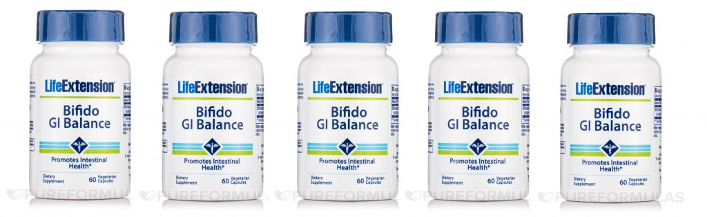 Life Extension Bifido Gi Balance, 60 Vegetarian Capsules, 5-pack