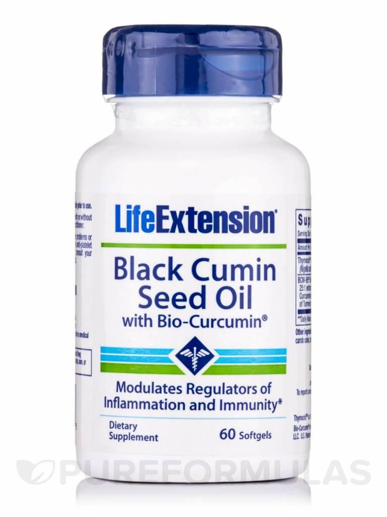 Life Extension Black Cumin Seed Oil with Bio-Curcumin, 60 Softgels