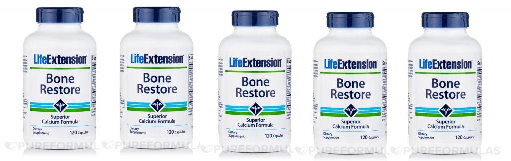 Life Extension Bone Restore, 120 Capsules, 5-packs
