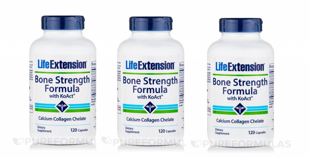 Life Extension Bone Strength Formula With Koact®, 120 Capsules, 3-pack