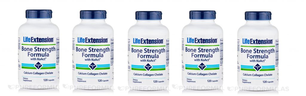 Life Extension Bone Strength Formula With Koact®, 120 Capsules, 5-pack