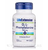 Life Extension D, L - Phenylalanin, 500 mg, 100 Capsules