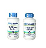 Life Extension D-Ribose Tablets, 100 Vegetarian Tablets, 2-pack