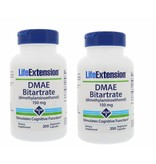 Life Extension DMAE Bitartrate (dimethylaminoethanol), 150 Mg 200 Vegetarian Capsules, 2-pack