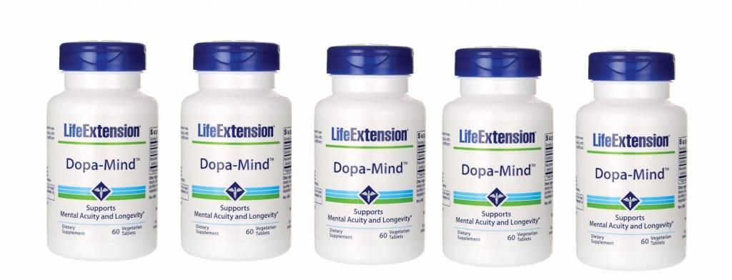 Life Extension Dopa-Mind, 60 Vegetarian Tablets, 5-pack