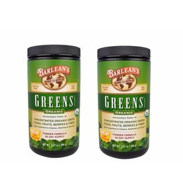 Barlean's Greens, Powder Formula, Organic 8.47 Oz (240 G), 2-pack