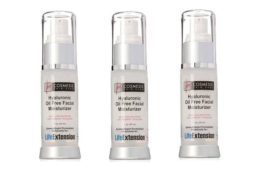 Cosmesis Hyaluronic Facial Moisturiser, 1 Oz., 3-pack