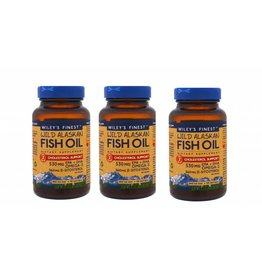 Wiley's Finest Wild Alaskan Fish Oil, Cholesterol Support, 90 Softgels, 3-pack