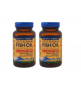 Wiley's Finest Wild Alaskan Fish Oil, Cholesterol Support, 90 Softgels, 2-pack