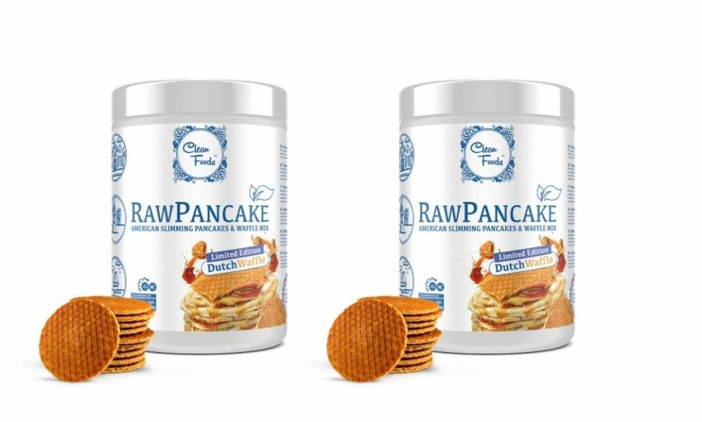 Cleanfoods Raw Pancakes Dutch Waffle, 425g Net, (32 Pancakes), 2-pack