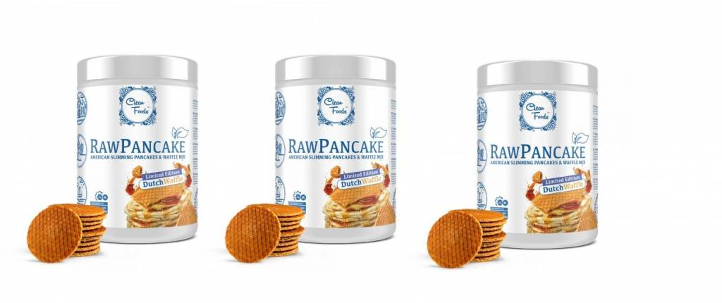 Cleanfoods Raw Pancakes Dutch Waffle, 425g Net, (32 Pancakes), 3-pack