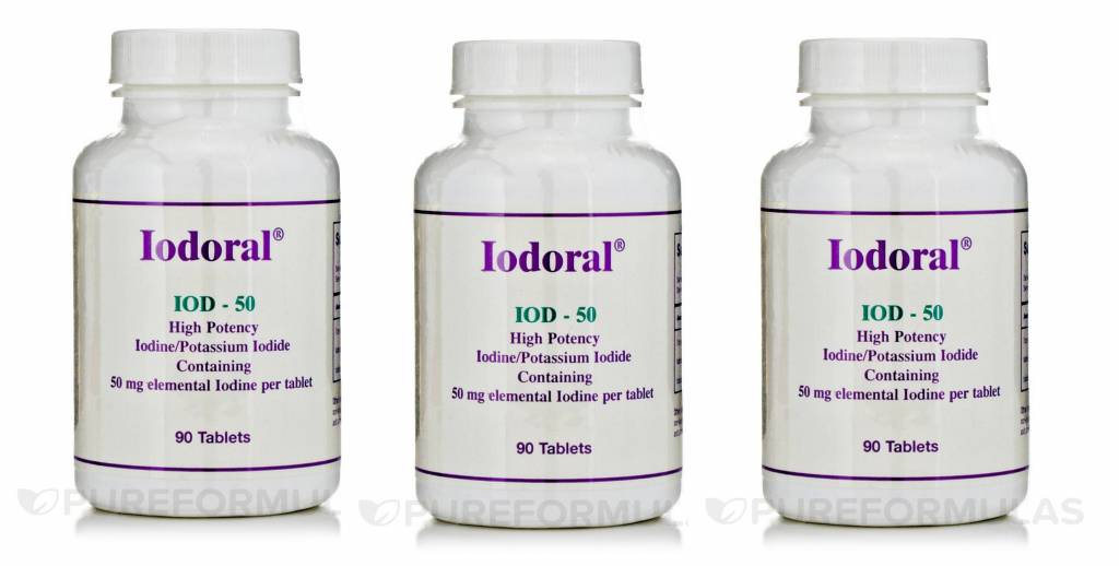 Optimox Iodoral 50mg, 90 Tablets, 3-pack