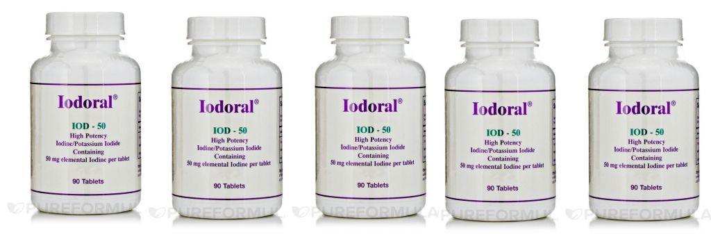 Optimox Iodoral 50mg, 90 Tablets, 5-pack