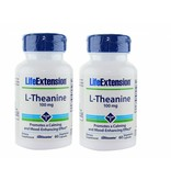 Life Extension L-Theanine, 100 Mg 60 Vegetarian Capsules, 2-pack