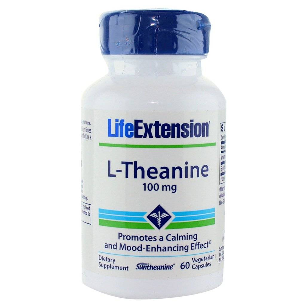 Life Extension  L-Theanine, 100 mg 60 vegetarian capsules