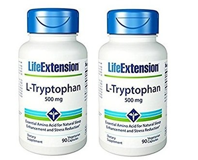 Life Extension L-Tryptophan, 500 Mg, 90 Vegetarian Capsules, 2-pack