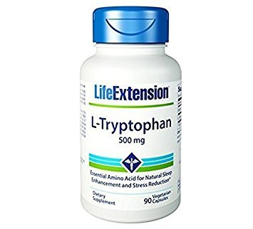 Life Extension L-Tryptophan, 500 mg , 90 vegetarian capsules
