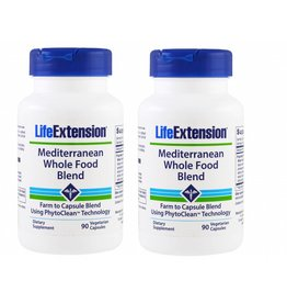 Life Extension Mediterranean Whole Food Blend, 90 Capsules, 2-pack