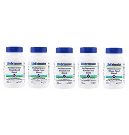Life Extension Mediterranean Whole Food Blend, 90 Capsules, 5-pack
