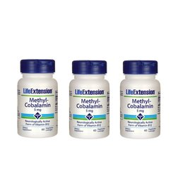 Life Extension Methylcobalamin, 5 mg 60 Vegetarian Lozenges, 3-pack