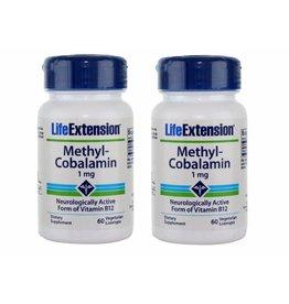 Life Extension Methylcobalamin, 1 mg 60 Vegetarian Lozenges, 2-pack