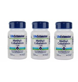 Life Extension Methylcobalamin, 1 mg 60 Vegetarian Lozenges, 3-pack