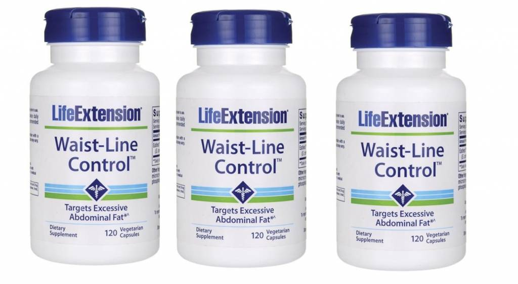 Life Extension Waist-Line Control, 120 Vegetarian Capsules, 3-pack