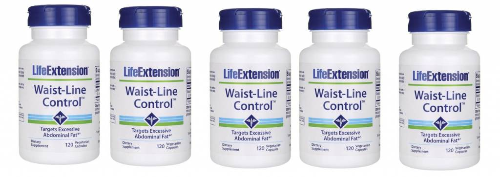 Life Extension Waist-Line Control, 120 Vegetarian Capsules, 5-pack