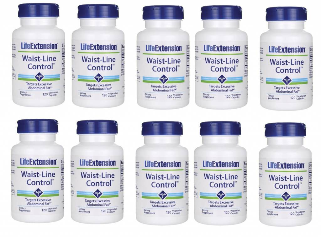 Life Extension Waist-Line Control, 120 Vegetarian Capsules, 10-pack