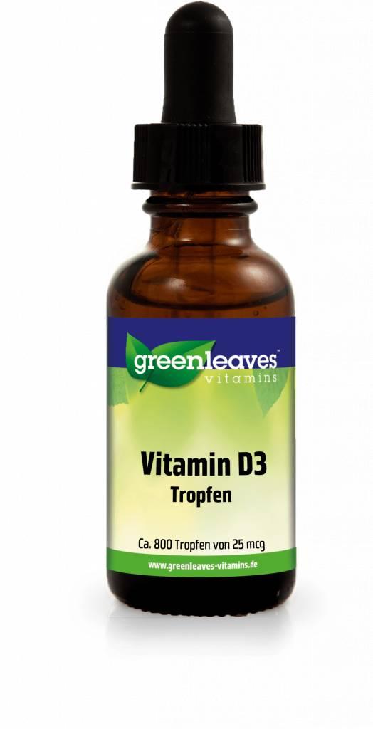 Greenleaves vitamins Vitamin D3 Tropfen, 25 mcg.