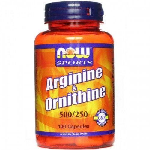 Now Foods Arginine/Оrnithine, 500/250, 100 Capsules