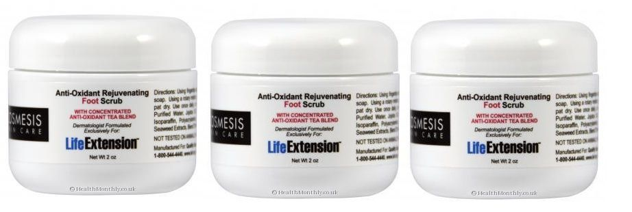 Cosmesis Anti-Oxidant Rejuvenating Foot Scrub, 2 Oz., 3-pack