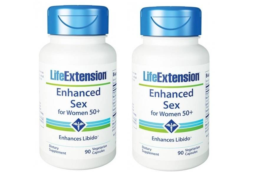Life Extension Enhanced Sex for Women 50+, 90 vegetarian capsules, 2-pack