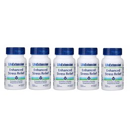 Life Extension Enhanced Stress Relief, 30 Vegetarian Capsules, 5-pack