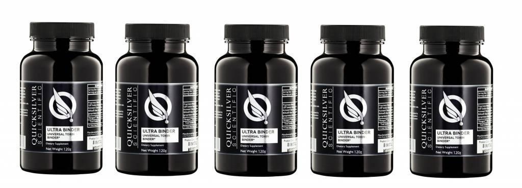Quicksilver Scientific Ultra Binder, Natural Toxin Binder, 120 g., 5-pack