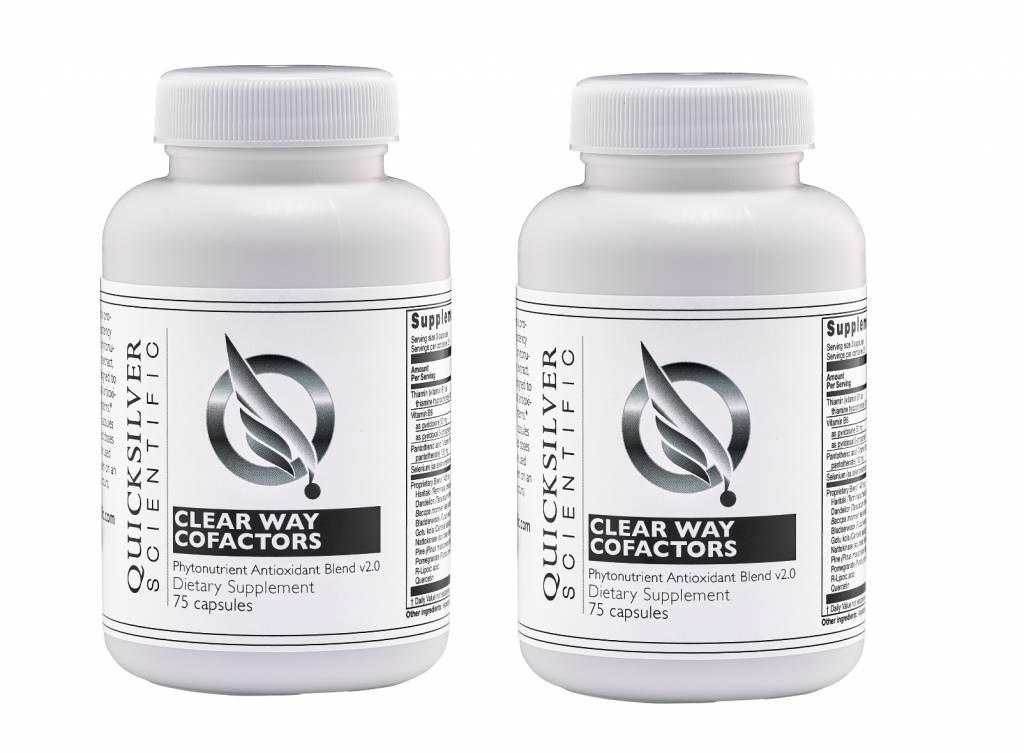 Quicksilver Scientific Clear Way Cofactors, 75 Capsules, 2-pack