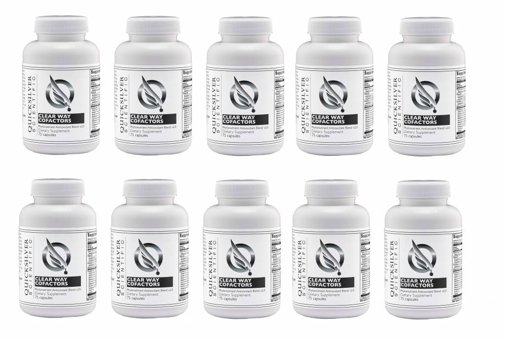 Quicksilver Scientific Clear Way Cofactors, 75 Capsules, 10-pack