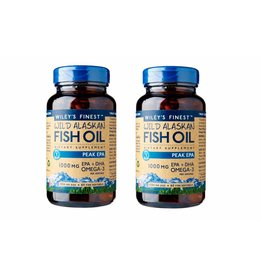 Wiley's Finest Wild Alaskan Fish Oil PEAK EPA, 60 Softgels, 2-packs