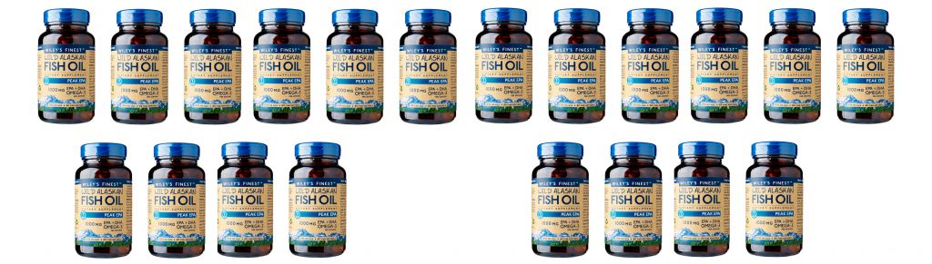 Wiley's Finest Wild Alaskan Fish Oil Peak Epa, 60 Softgels, 20-packs