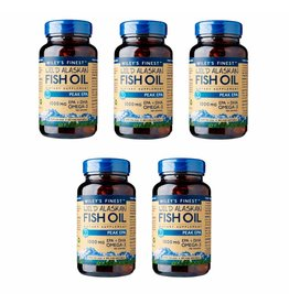 Wiley's Finest Wild Alaskan Fish Oil PEAK EPA, 60 Softgels, 5-packs