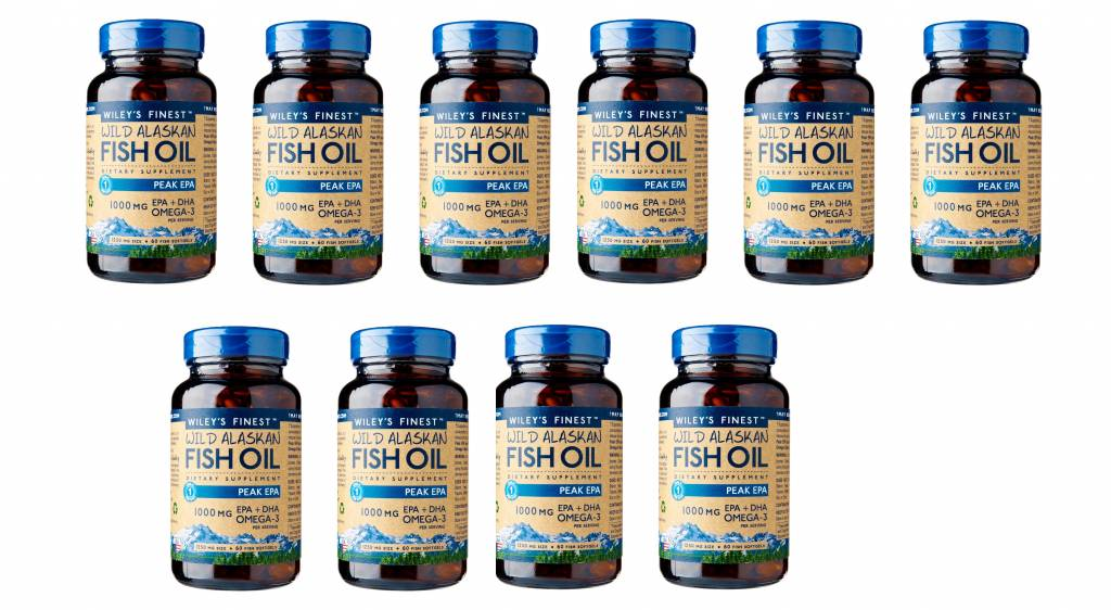 Wiley's Finest Wild Alaskan Fish Oil PEAK EPA, 60 Softgels,10-packs