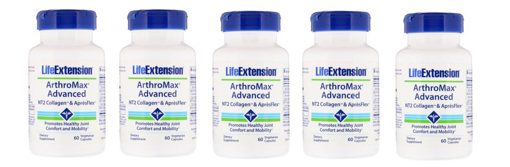 Life Extension  ArthroMax® Advanced with NT2 Collagen™ & AprèsFlex®, 5-pack