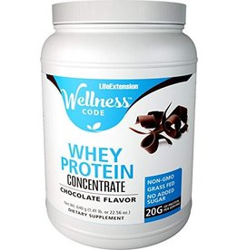 Life Extension Wellness Code™ Whey Protein Concentrate, Chocolate Flavor, 640 Grams