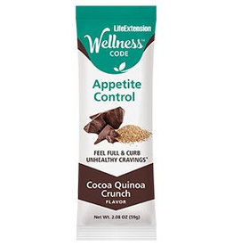Life Extension Wellness Code™ Appetite Control™ Bar: Cocoa Quinoa Crunch