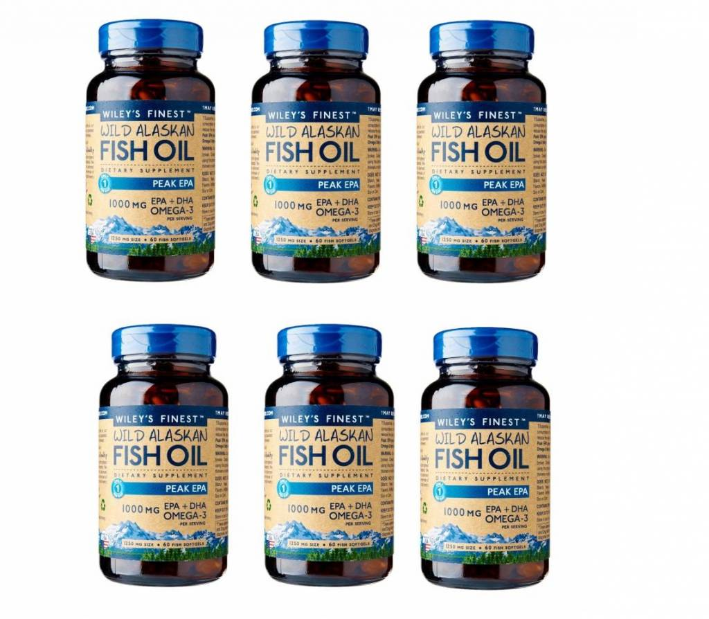 Wiley's Finest Wild Alaskan Fish Oil Peak Epa, 60 Softgels, 6-packs