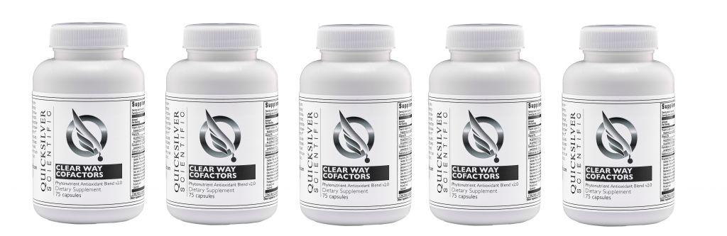 Quicksilver Scientific Clear Way Cofactors®, 120 Capsules, 5-packs