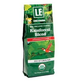 Life Extension Rainforest Blend Decaf Ground Coffee, 12 Oz.